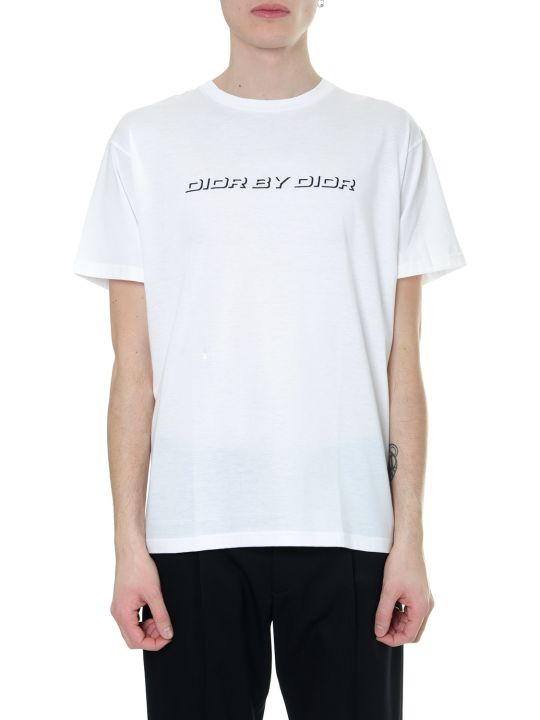 Dior Homme Dior By Dior White Cotton T-shirt