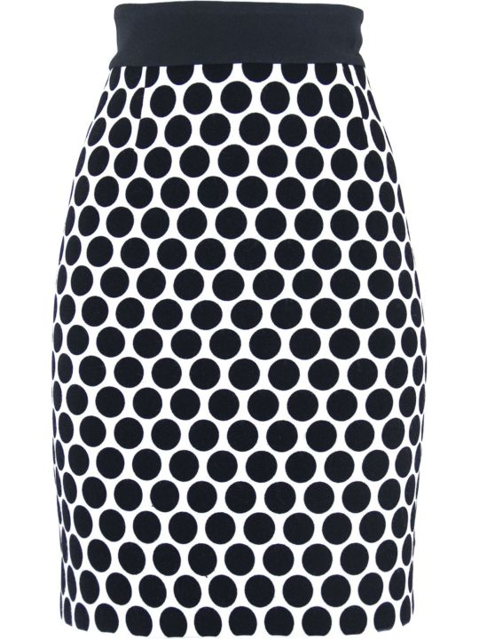Fausto Puglisi Black And White Pois Skirt