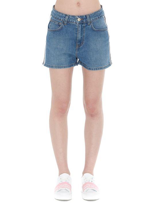 GCDS Logo Band Denim Shorts