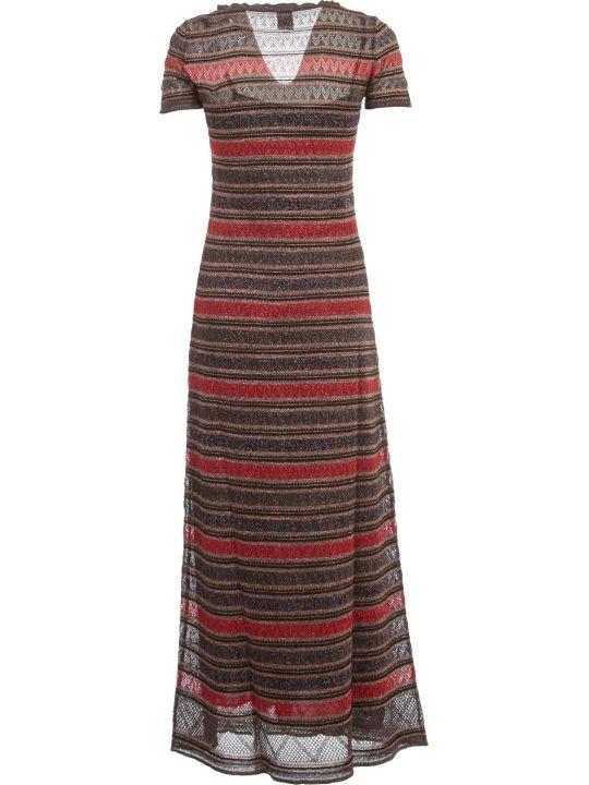 M Missoni Dress S/s Wide Neck Lace Lurex
