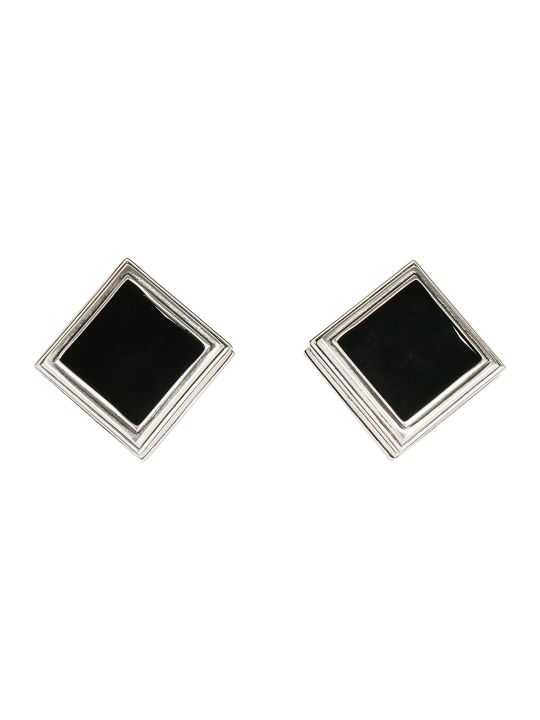 Saint Laurent Monumental Square Earrings