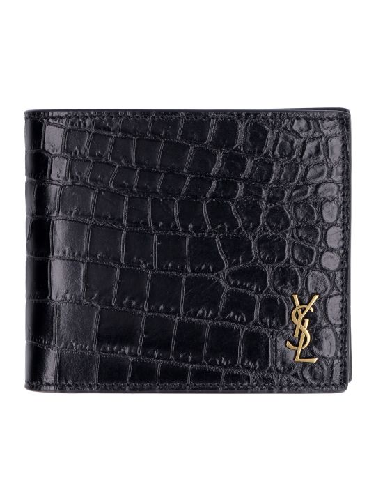 Saint Laurent Logo Leather Wallet