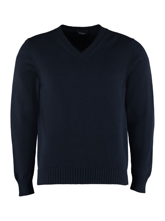 Drumohr Cotton V-neck Pullover