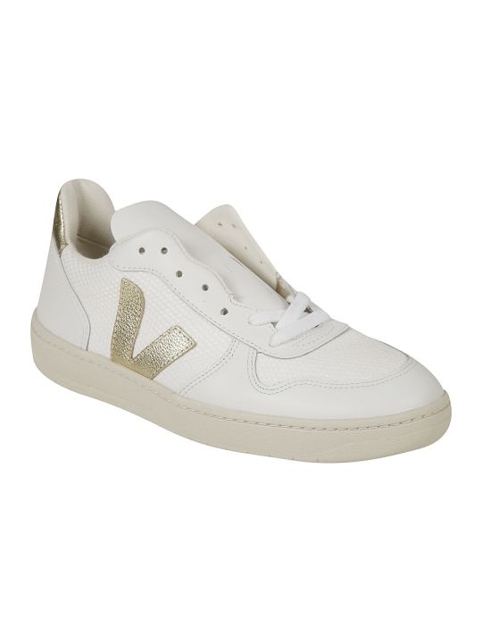 Veja Mesh Detail Side V Logo Perforated Sneakers