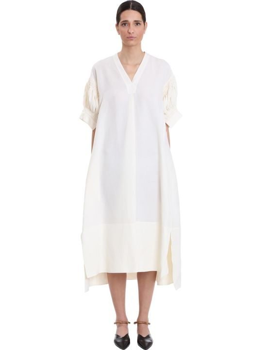 Jil Sander Mela Dress In White Viscose