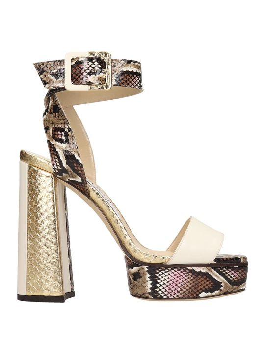 Jimmy Choo Jax Sandals In Multicolor Leather