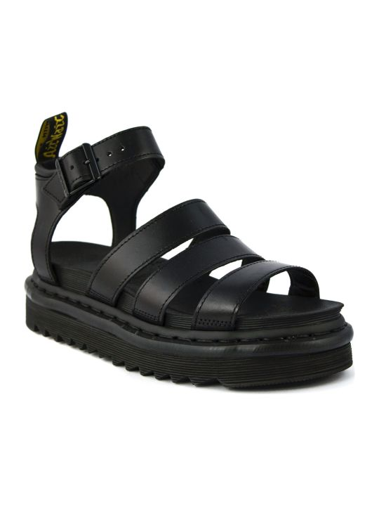 Dr. Martens Blaire Sandal In Black Leather
