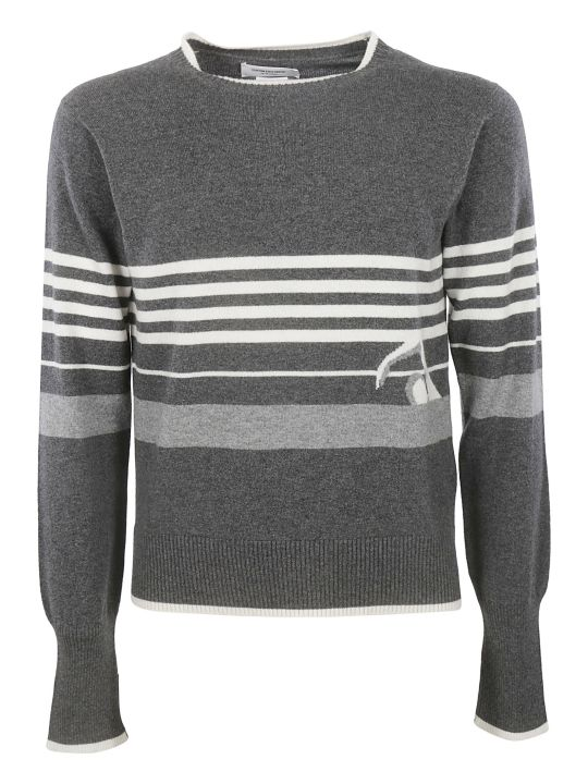 Thom Browne Striped Trim Sweater