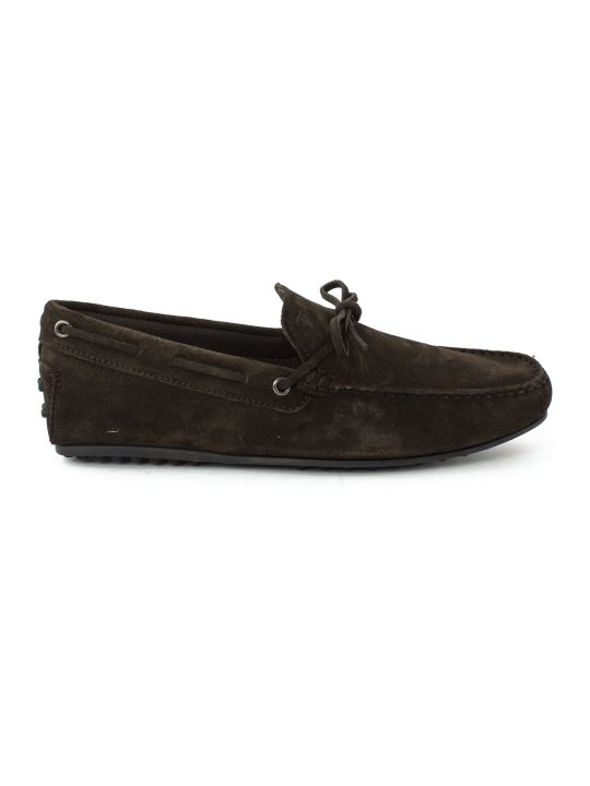 Tod's Gommino Driving In Brown Suede