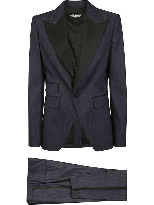 Dsquared2 Single Button Multi Pocket Blazer