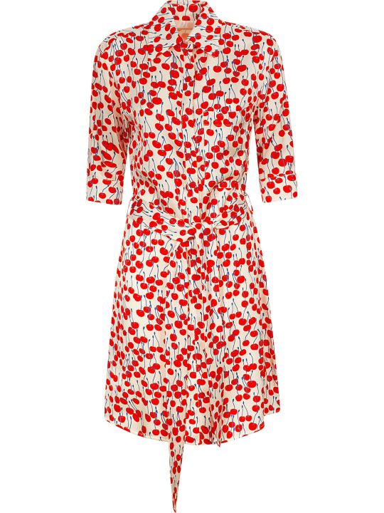 Victoria Victoria Beckham Cherry Print Shirt Dress