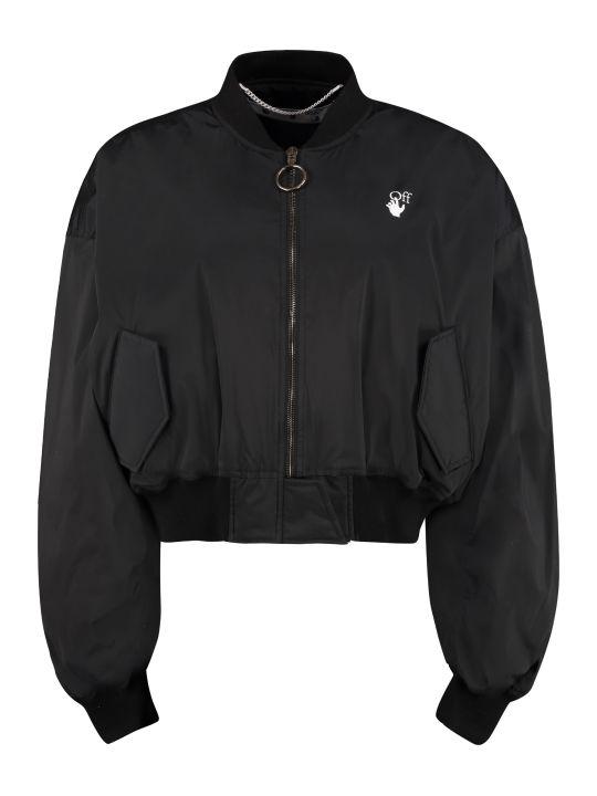 Off-White Varsity Nylon Bomber Jacket