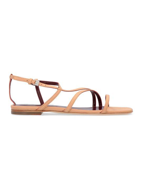 STAUD Gitane Leather Flat Sandals