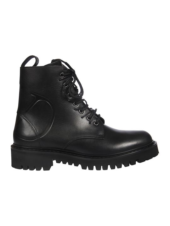 Valentino Lace-up Combat Boots