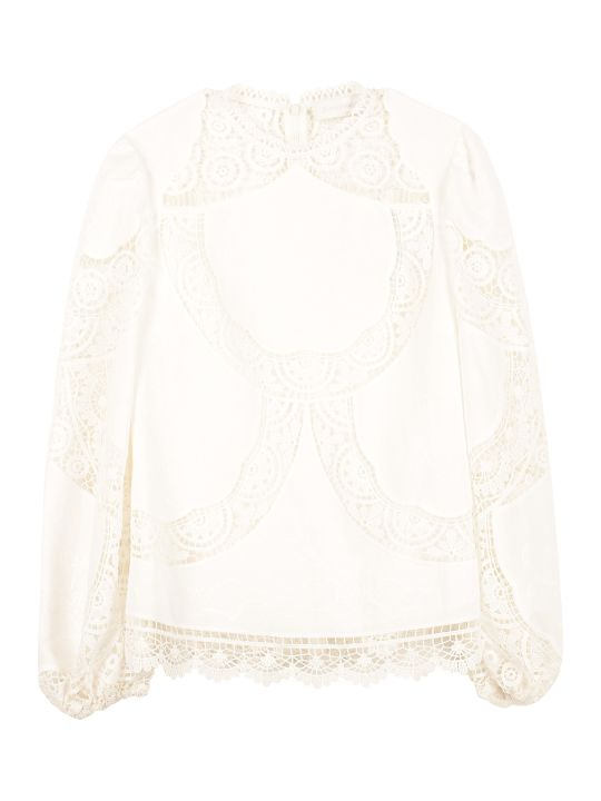 Zimmermann Bonita Linen-cotton Blend Blouse