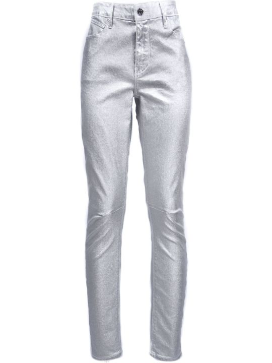 RTA Silver-tone Cotton-blend Metallic Skinny Jeans