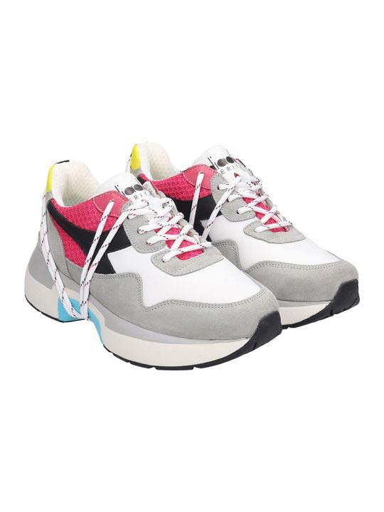 Diadora Txs  Sneakers In White Nylon And Leather