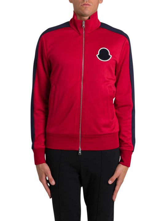 Moncler Zipped Sweatshirt With Logo Patch
