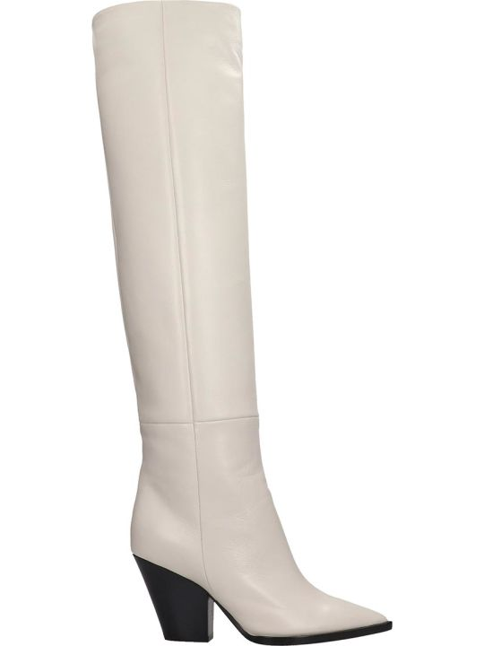 Lerre High Heels Boots In White Leather
