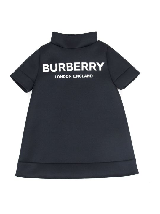 Burberry Black Funnel Neck Dress