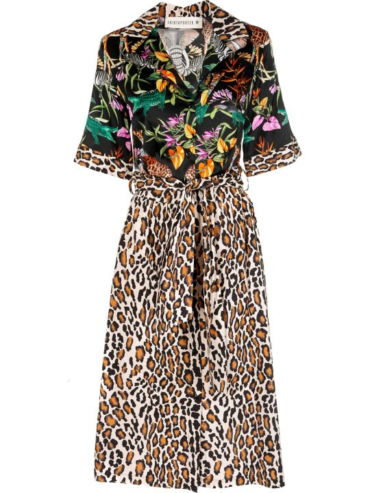 Shirt a Porter Safari Print Shirt Dress