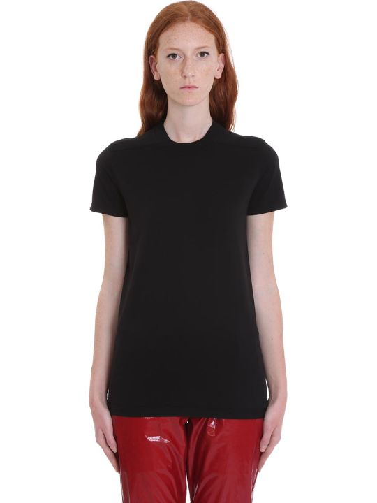 DRKSHDW Crew Level Shor T-shirt In Black Cotton