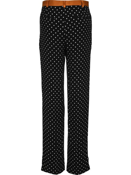 Haider Ackermann Straight Leg Polka Dot Trousers