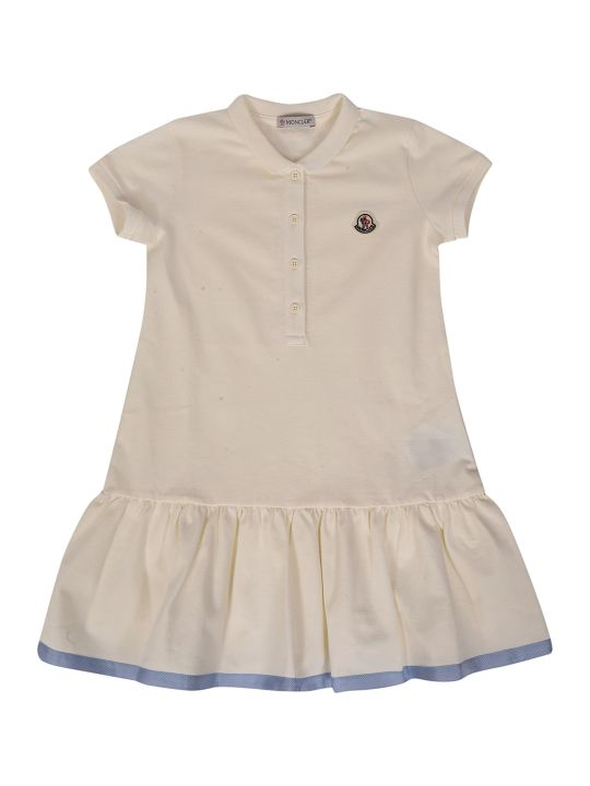Moncler Kids Ruffled Polo Dress