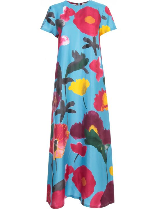 La DoubleJ Swing Long Dress S/s Blooms Fantasy