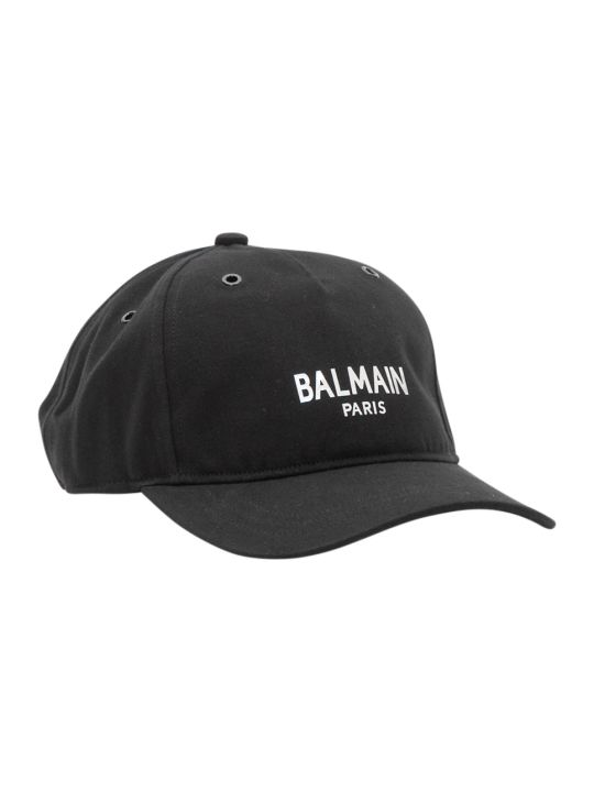 Balmain Baseball Hat With Logo Print
