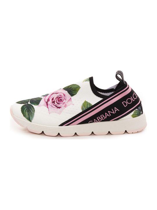 Dolce & Gabbana Tropical Rose Sneakers Slip On