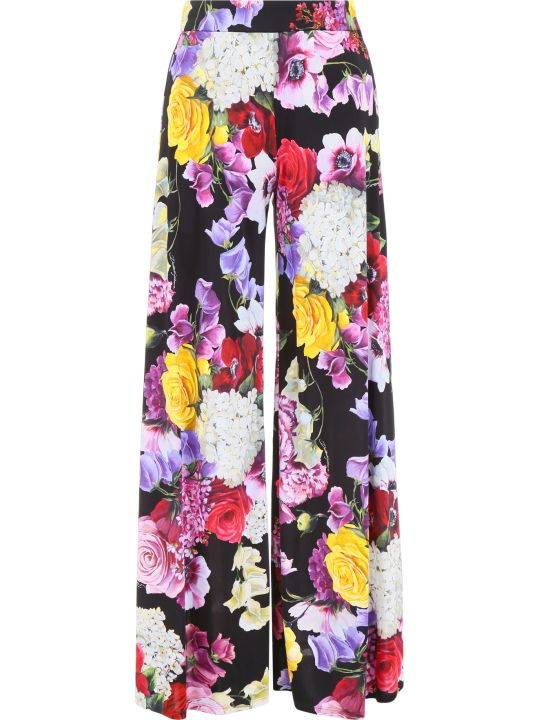 Dolce & Gabbana Hortensia Print Trousers