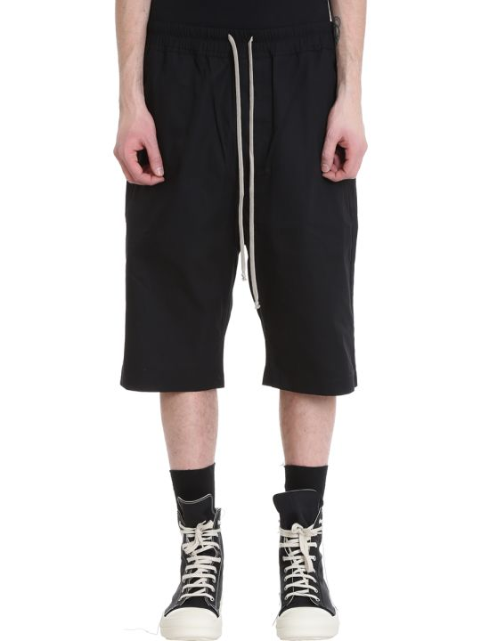 DRKSHDW Black Cotton Shorts
