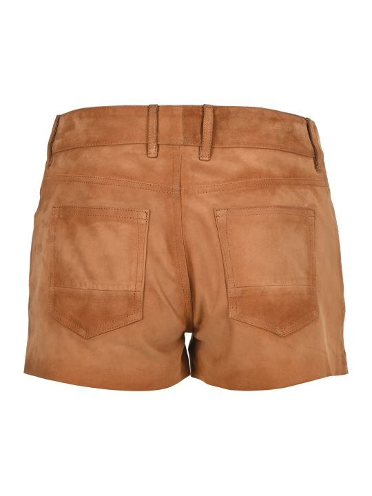 Golden Goose Suede Mid-rise Shorts