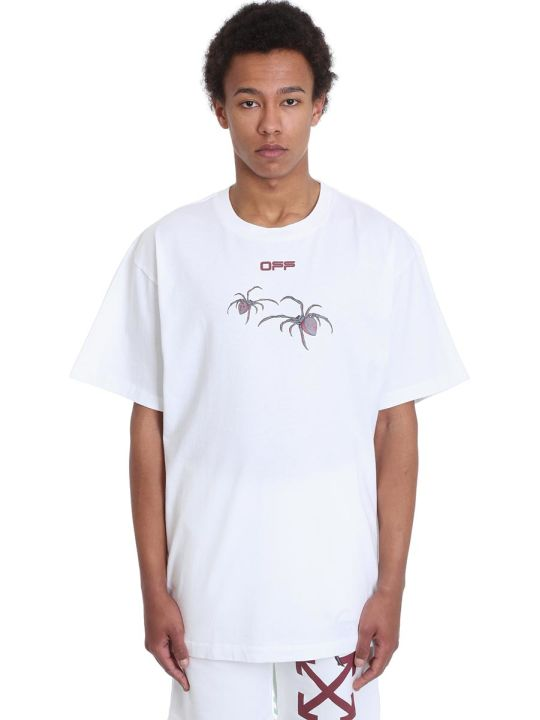 Off-White Arachno Arrow T-shirt In White Cotton