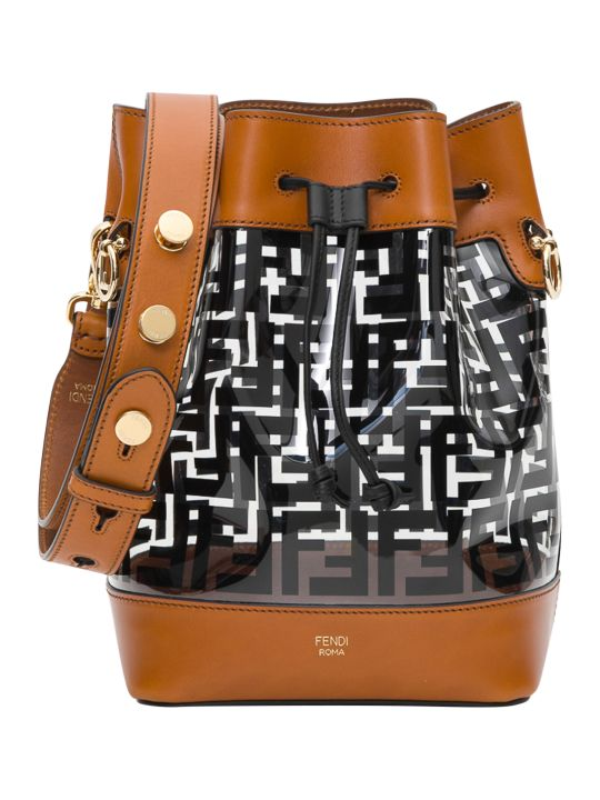 Fendi Mon Trésor Pvc And Leather Bucket Bag