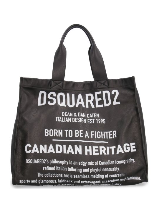 Dsquared2 Printed Leather Tote