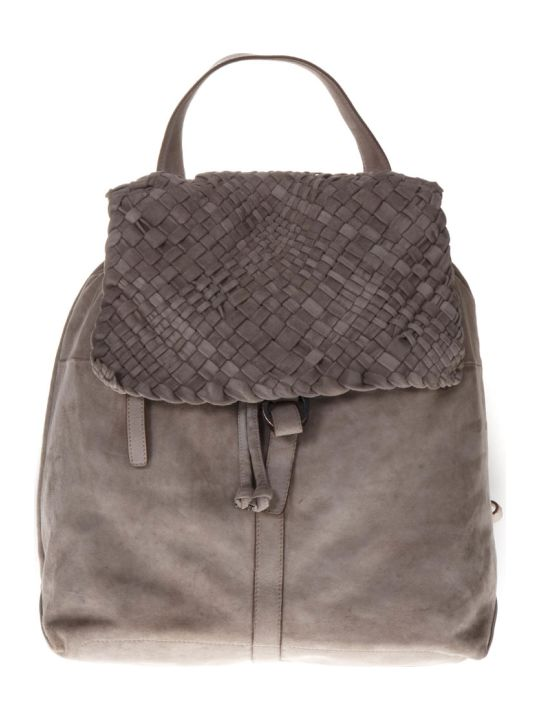 Eleventy Sand Suede Weave Backpack
