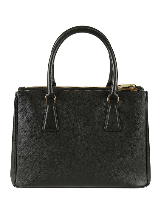 Prada Logo Plaque Top-zip Tote