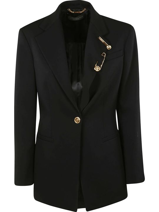 Versace Single Breasted Blazer