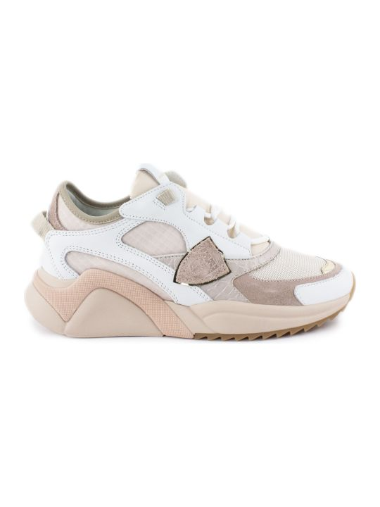 Philippe Model White And Pink Eze Sneakers