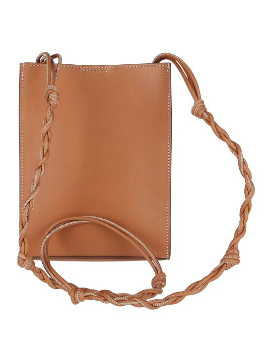 Jil Sander Brown Leather Tangle Crossbody Bag