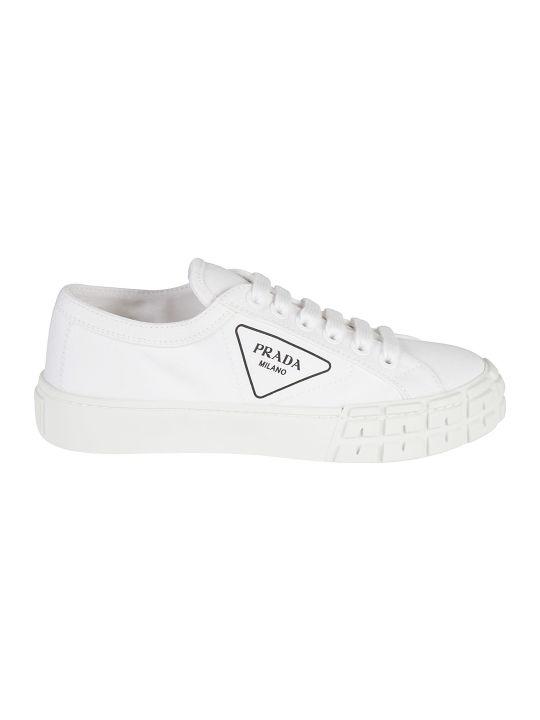 Prada Logo Printed Sneakers