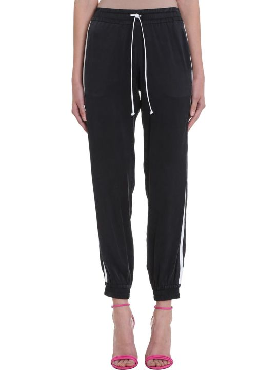 AMIRI Black Silk Tracker Jogger Pants