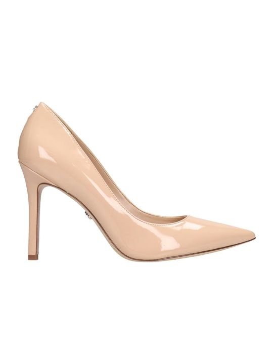 Sam Edelman Hazel Pumps In Powder Patent Leather