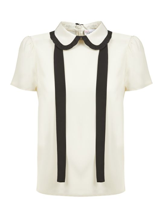 RED Valentino Scallop Collar Blouse
