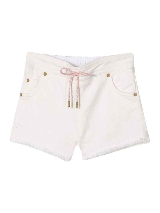 Chloé White Shorts With Drawstring Chloé Kids