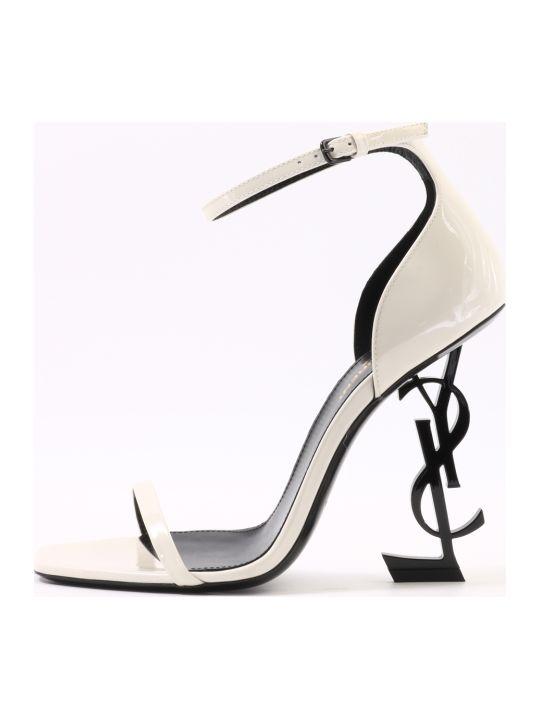 Saint Laurent Opyum Sandals White
