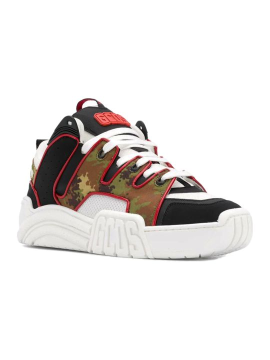 GCDS Camo Skate Sneakers