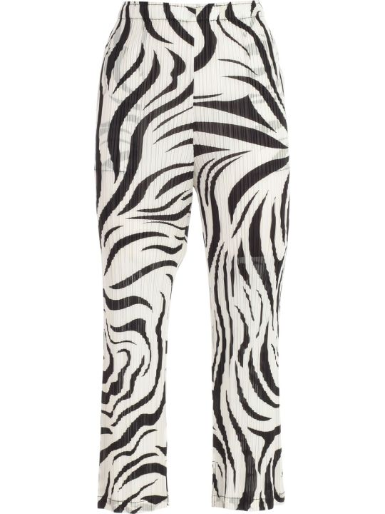 Pleats Please Issey Miyake Pants Straight Monochrome